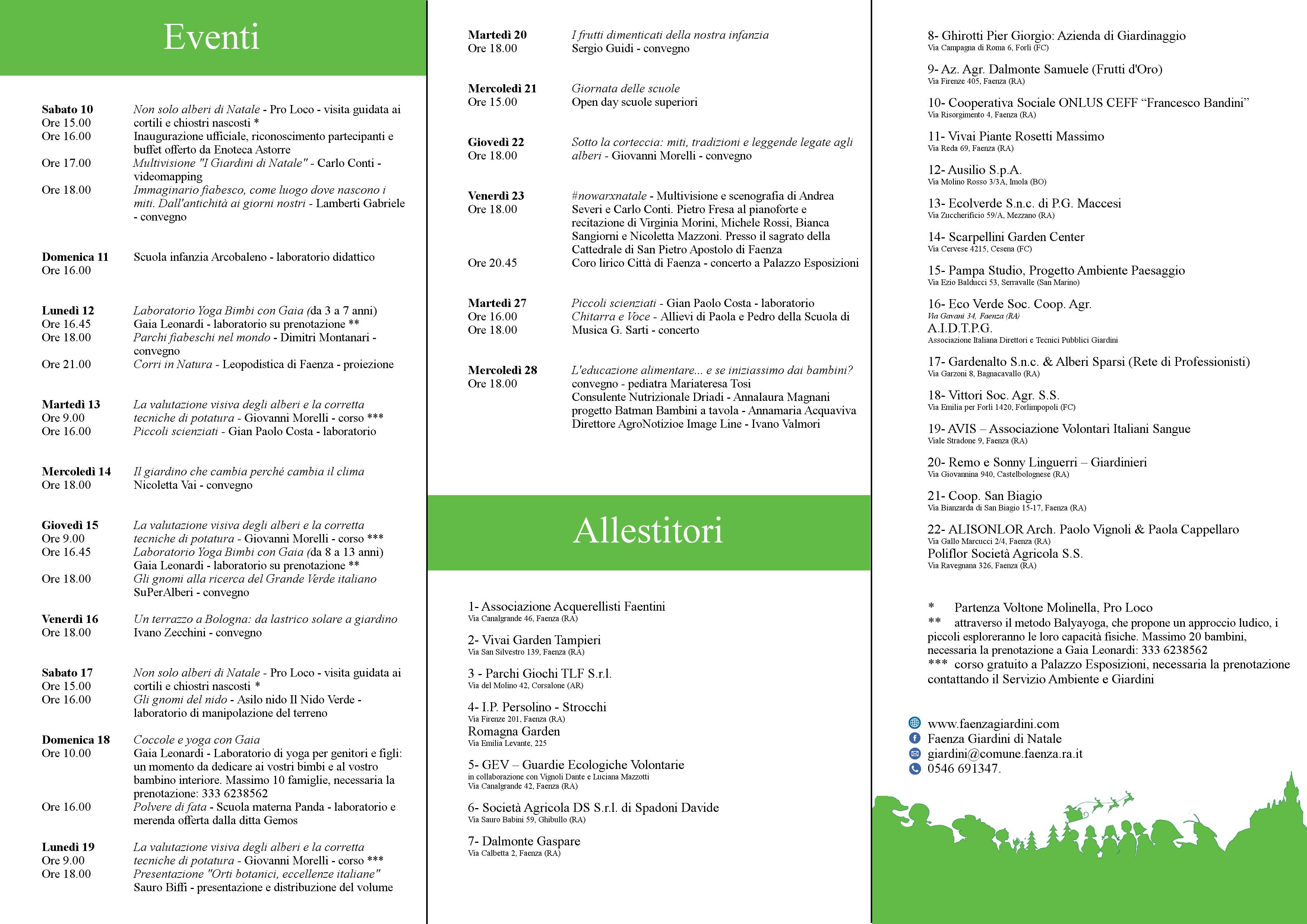 Eventi E Allestitori Giardini Di Natale 7a Edizione Servizio